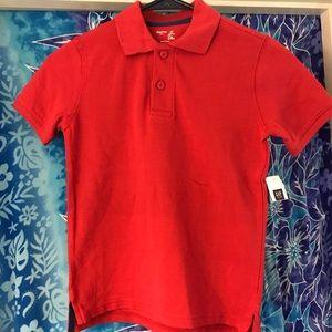NWT Gap Kids Polo Shirt Red